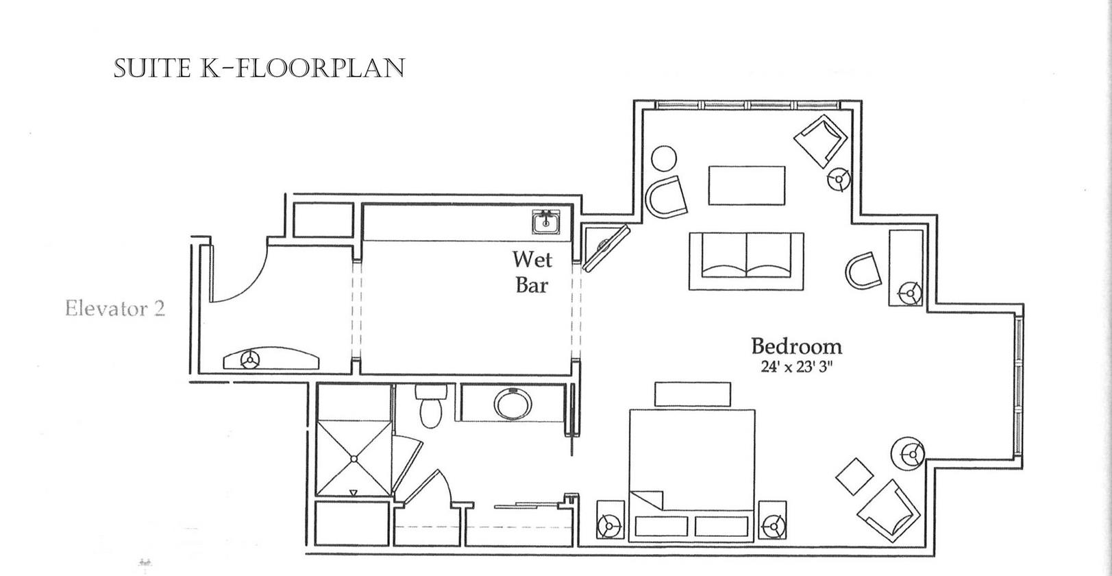 Floor Plan for Clubhouse Suite K